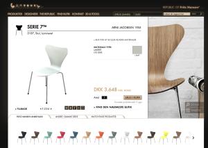 Serie 7 hvid lakeret stol